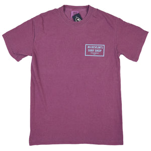 McKevlin's - 65 Dye Men's S/S T - Berry - MCKEVLIN'S SURF SHOP