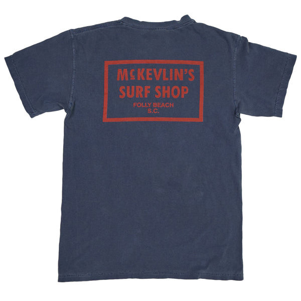 McKevlin's - 65 Dye Men's S/S T - Denim Blue - MCKEVLIN'S SURF SHOP