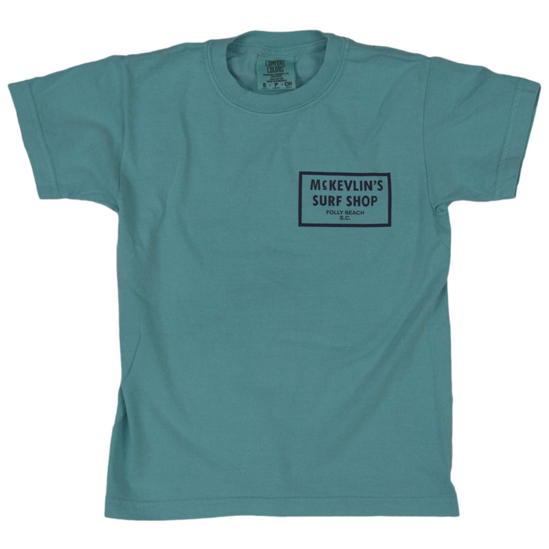 McKevlin's - 65 Dye Youth S/S T - Chalky Mint - MCKEVLIN'S SURF SHOP