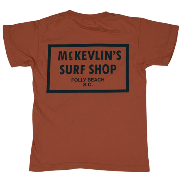 McKevlin's - 65 Dye Youth S/S T - Terracotta - MCKEVLIN'S SURF SHOP