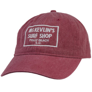 McKevlin's - 65 Dye Unstructured Hat - Brick - MCKEVLIN'S SURF SHOP