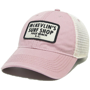 McKevlin's - 65 Patch Trucker Hat - Dusty Rose - MCKEVLIN'S SURF SHOP