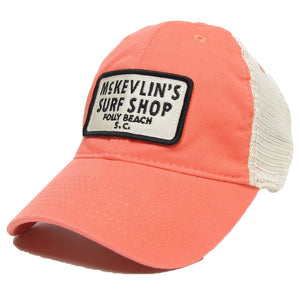 McKevlin's - 65 Patch Trucker Hat - Coral - MCKEVLIN'S SURF SHOP