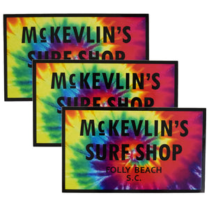 McKevlin's - 65 Sticker 3-Pack - Tie Dye/Black - MCKEVLIN'S SURF SHOP
