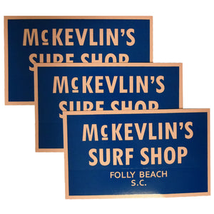 McKevlin's - 65 Sticker 3-Pack - Navy/Peach - MCKEVLIN'S SURF SHOP