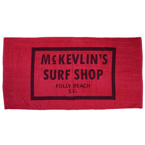 McKevlin's - 65 Beach Towel - Salsa Red - MCKEVLIN'S SURF SHOP