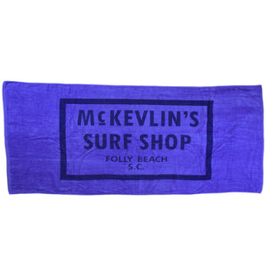 McKevlin's - 65 Beach Towel - Caribbean Blue - MCKEVLIN'S SURF SHOP