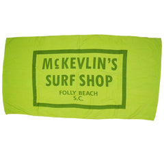 McKevlin's - 65 Beach Towel - Neon Yellow - MCKEVLIN'S SURF SHOP