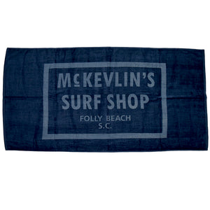 McKevlin's - 65 Beach Towel - Navy - MCKEVLIN'S SURF SHOP