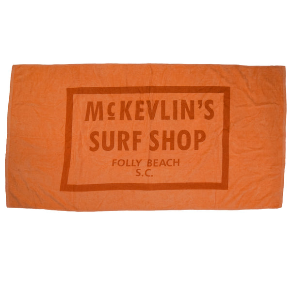 McKevlin's - 65 Beach Towel - Orange - MCKEVLIN'S SURF SHOP