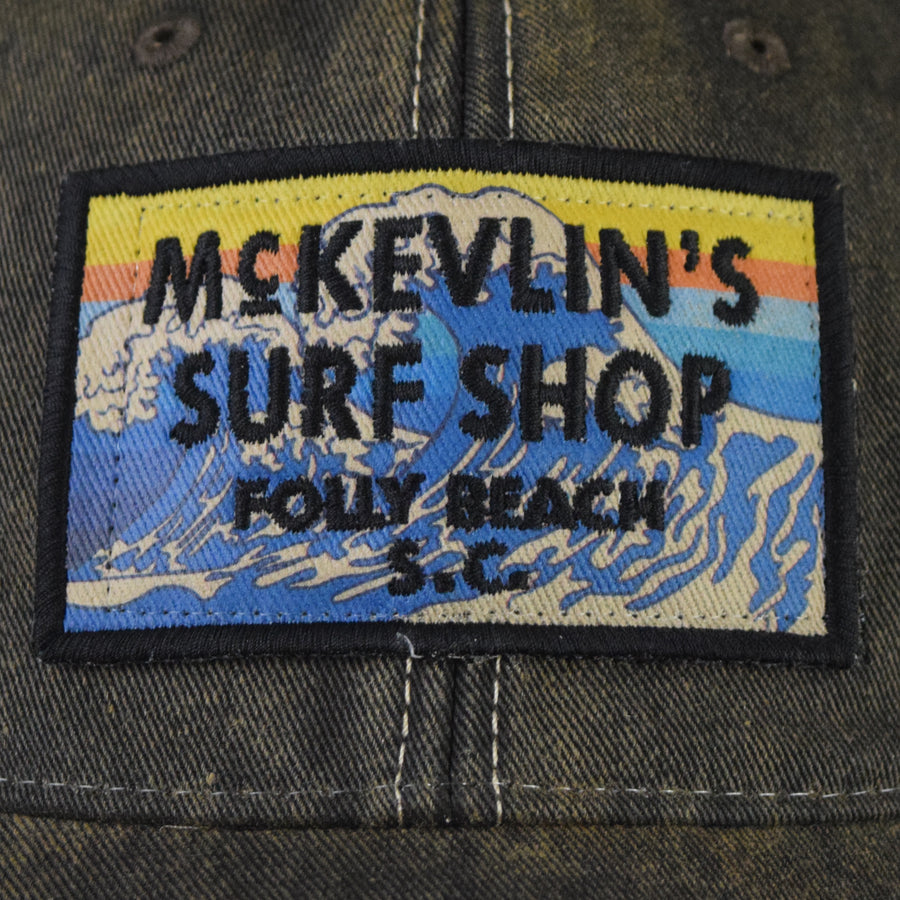 McKevlin's - 65 Tsunami Patch Trucker Hat - Black - MCKEVLIN'S SURF SHOP