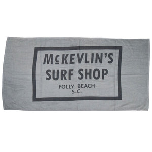 McKevlin's - 65 Beach Towel - Cool Gray - MCKEVLIN'S SURF SHOP