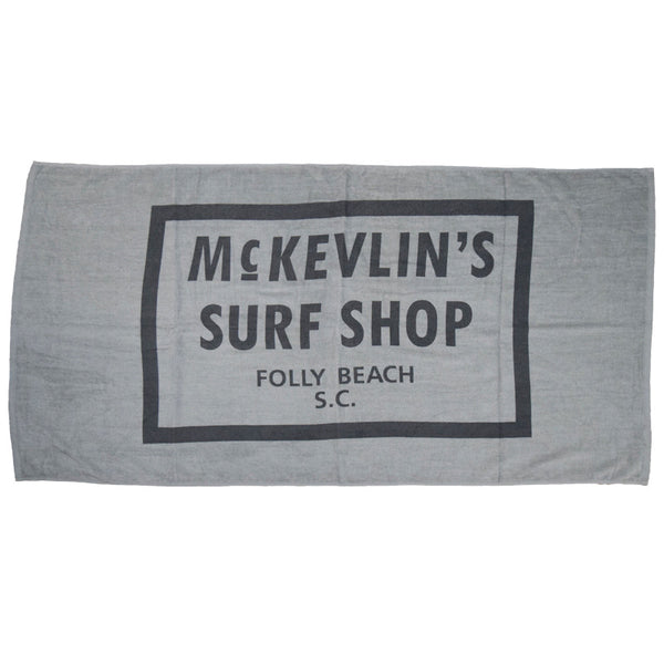 McKevlin's - Sixty-Five Beach Towel - Cool Gray
