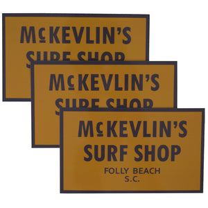 McKevlin's - 65 Sticker 3-Pack - Spicy Mustard/Grey - MCKEVLIN'S SURF SHOP