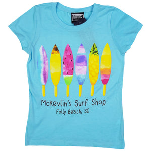 McKevlin's - Board Pops Youth Girls' S/S T - Cancun