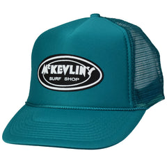 McKevlin's - Classic Oval Trucker Hat - Teal