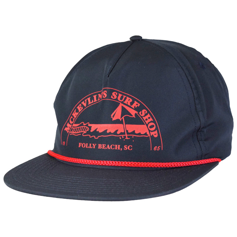 McKevlin's - Caddyhat - Navy/Red - MCKEVLIN'S SURF SHOP