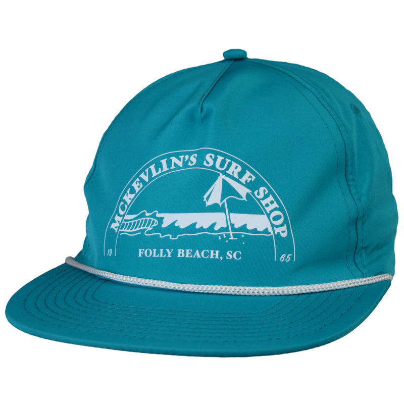 McKevlin's - Caddyhat - Teal/White - MCKEVLIN'S SURF SHOP
