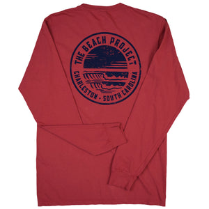 The Beach Project - Circulo Men's LS Pkt T - Brick