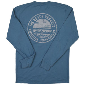 The Beach Project - Circulo Men's LS Pkt T - Slate - MCKEVLIN'S SURF SHOP
