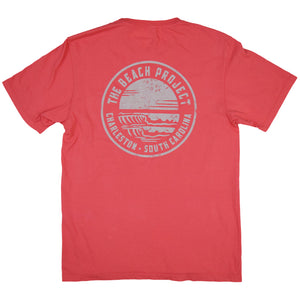The Beach Project - Circulo Men's SS Pkt T - Coral