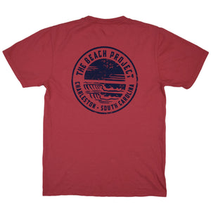 The Beach Project - Circulo Men's SS Pkt T - Brick - MCKEVLIN'S SURF SHOP