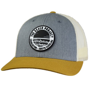 The Beach Project - Dos Olas Trucker Hat - Heather Grey/Birch/Amber Gold - MCKEVLIN'S SURF SHOP