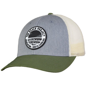 The Beach Project - Dos Olas Trucker Hat - Heather Grey/Birch/Olive