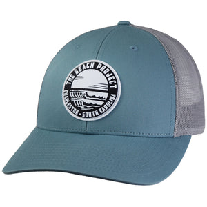 The Beach Project - Dos Olas Trucker Hat - Smoke Blue/Aluminum - MCKEVLIN'S SURF SHOP