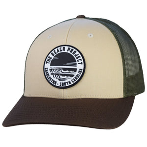 The Beach Project - Dos Olas Trucker Hat - Tan/Loden/Brown - MCKEVLIN'S SURF SHOP