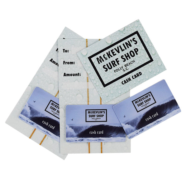 McKevlin's - 001 - Gift Card - Choose $25, $50, $100, or $200 - MCKEVLIN'S SURF SHOP