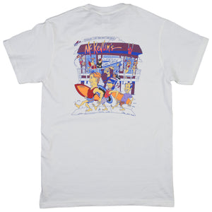 McKevlin's - Gone Surfin' Men's S/S T - White - MCKEVLIN'S SURF SHOP
