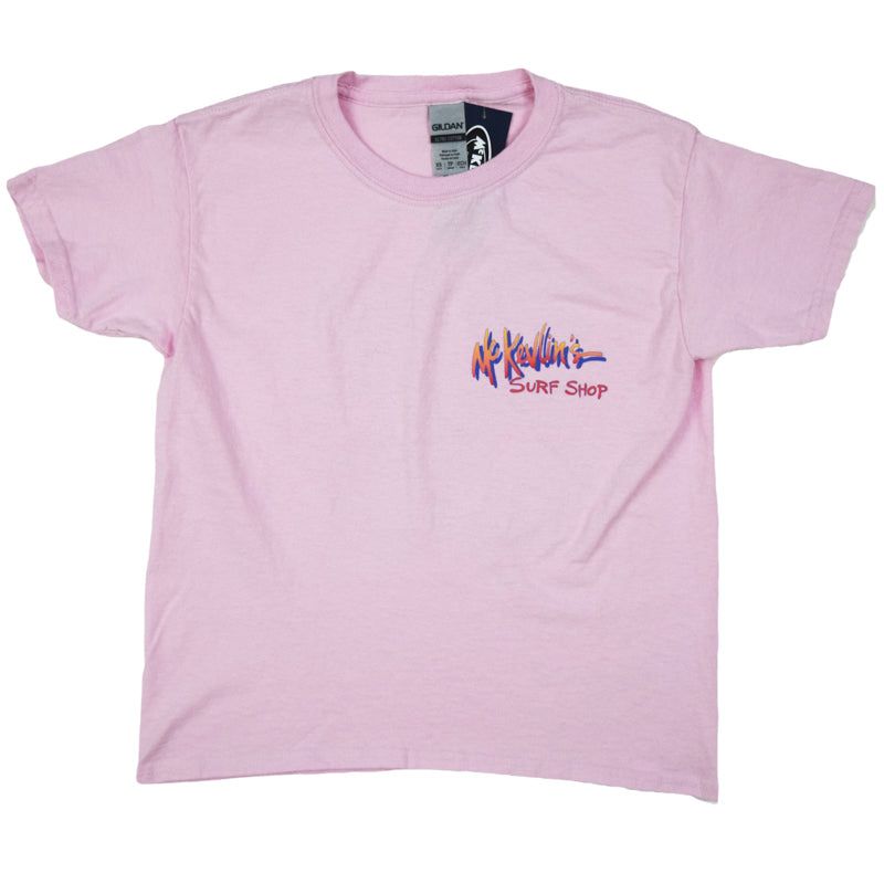 McKevlin's - Gone Surfin' Youth S/S T - Light Pink