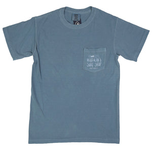 McKevlin's - Kemp Wave Men's S/S  T - Ice Blue - MCKEVLIN'S SURF SHOP