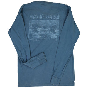 McKevlin's - Kemp Wave Men's L/S  T - Ice Blue - MCKEVLIN'S SURF SHOP