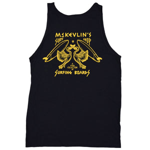 McKevlin's - No Egrets Men's S/S  Tank - Black Heather