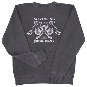 McKevlin's - No Egrets Men's Crew Fleece - Black