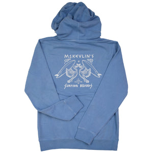 McKevlin's - No Egrets Men's Hooded Fleece - Light Blue