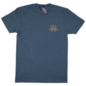 McKevlin's - No Egrets Men's S/S  T - Indigo Heather