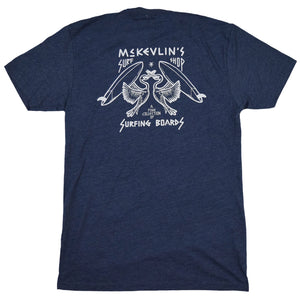 McKevlin's - No Egrets Men's S/S  T - Midnight Navy