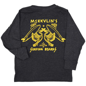 McKevlin's - No Egrets Youth L/S T - Vintage Smoke
