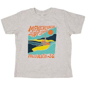 McKevlin's - Toddler Open Arms S/S  T - Natural Heather