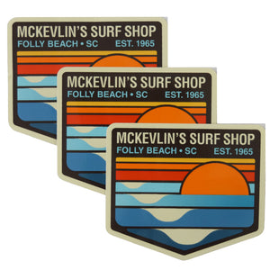 McKevlin's - Park Patch Sticker 3-Pack - Multi Color - MCKEVLIN'S SURF SHOP