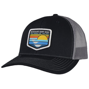 McKevlin's - Park Patch Trucker Hat - Black/Charcoal.
