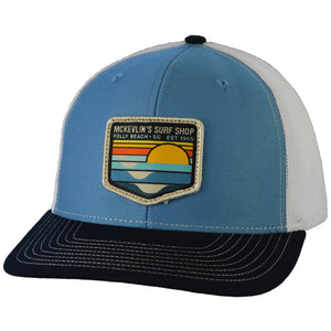 McKevlin's - Park Patch Trucker Hat - Columbia Blue/White/Navy - MCKEVLIN'S SURF SHOP