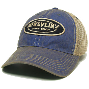 McKevlin's - Toddler Size Classic Oval Patch Trucker Hat - Blue - MCKEVLIN'S SURF SHOP