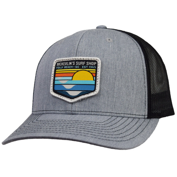 McKevlin's - Park Patch Trucker Hat - Heather Grey/Black - MCKEVLIN'S SURF SHOP