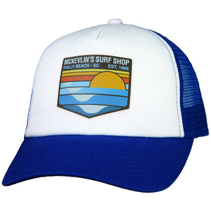 McKevlin's - Park Transfer 2.0 Trucker Hat - Royal Blue/White - MCKEVLIN'S SURF SHOP