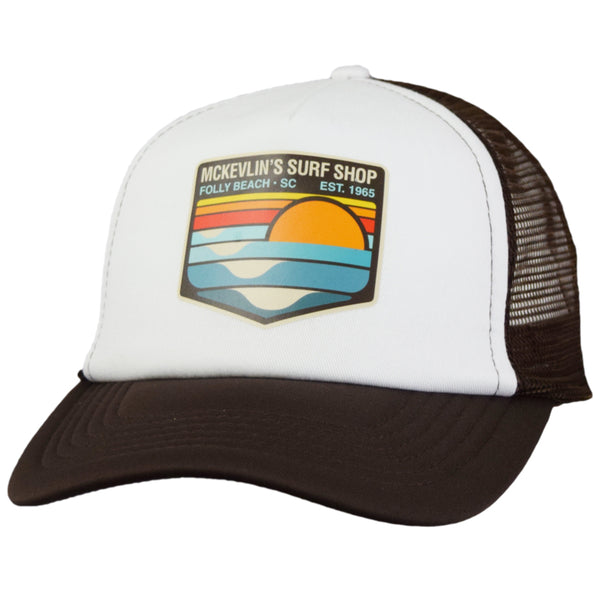 McKevlin's - Park Transfer 2.0 Trucker Hat - Chocolate/White - MCKEVLIN'S SURF SHOP