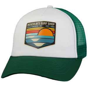 McKevlin's - Park Transfer 2.0 Trucker Hat - Kelly Green/White - MCKEVLIN'S SURF SHOP
